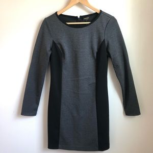 Laundry Shelli Segal grey knit long sleeve dress